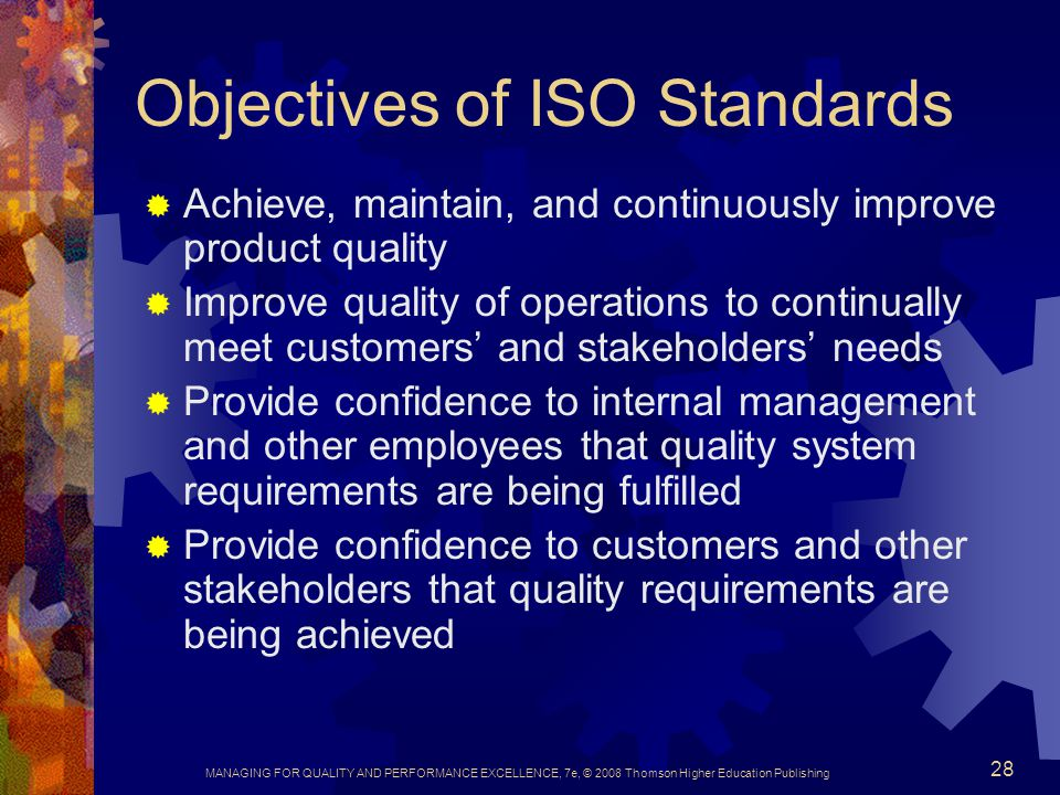 Objectives of ISO Standards