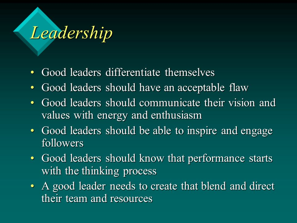 good leadership is more important than Why is leadership important  but that's achieved by attracting good workers) knowledge workers are now more important than innovative ideas.