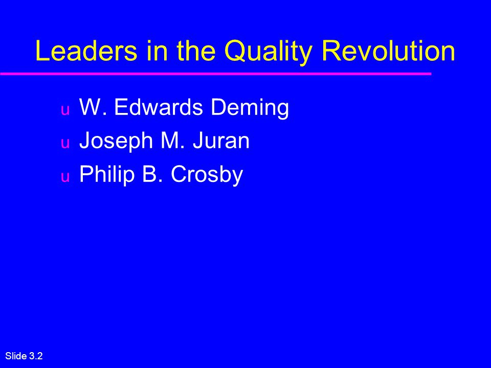 how are teachings of edward deming philip crosby and joseph juran similar These are dr w edwards deming, dr joseph juran, philip crosby, shigeo shingo, dr genichi taguchi, dr kaoru ishikawa, armand v feigenbaum, and dr h james harrington the quality gurus have all had a significant impact on the world through their contributions to improving not only businesses, but all organizations including state and.