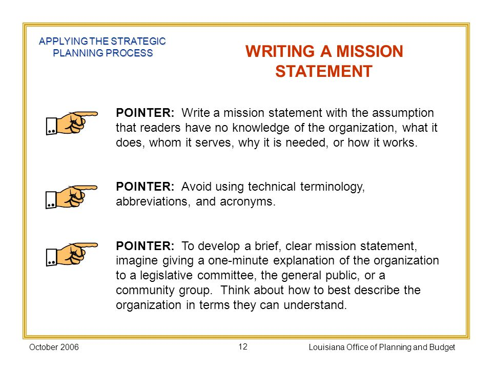 9 components of mission statement A mission statement communicates the organization's reason for being, and how  it  embrace diversity as an essential component in the way we do business.