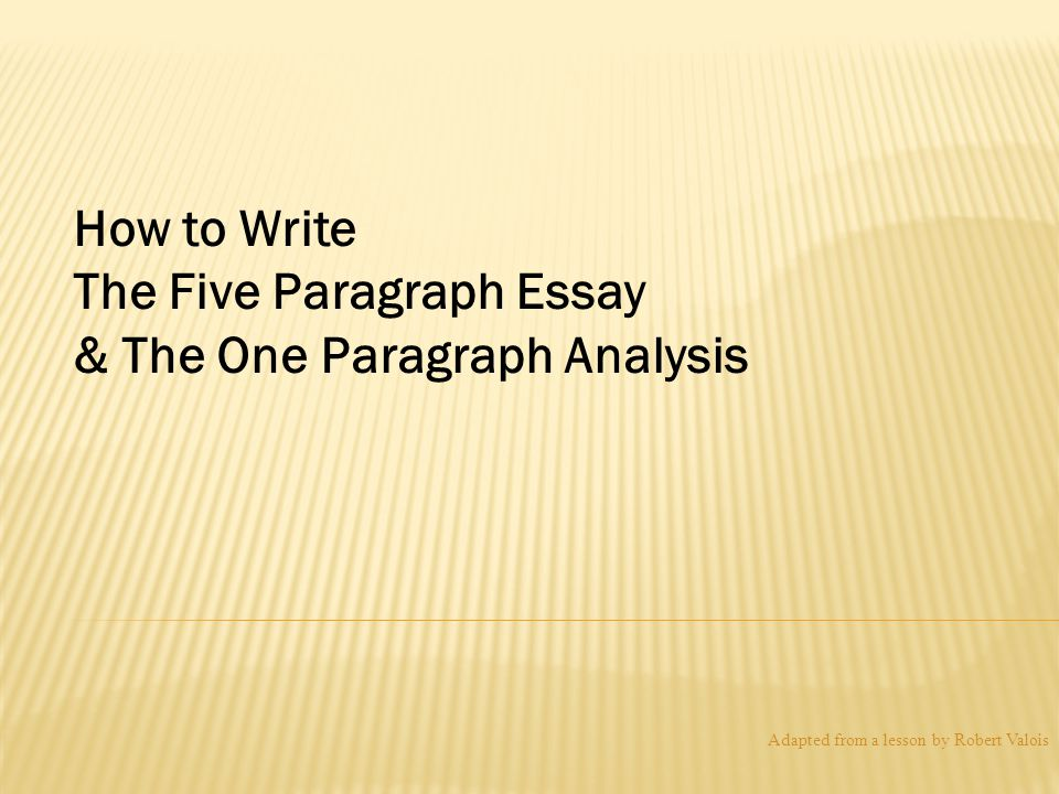 five-paragraph essay mini lessons I also think that if you teach 5 paragraph essays, you should also share  freewriting,  theory is not fact or evidence or lesson plans it is a frame of  reference.