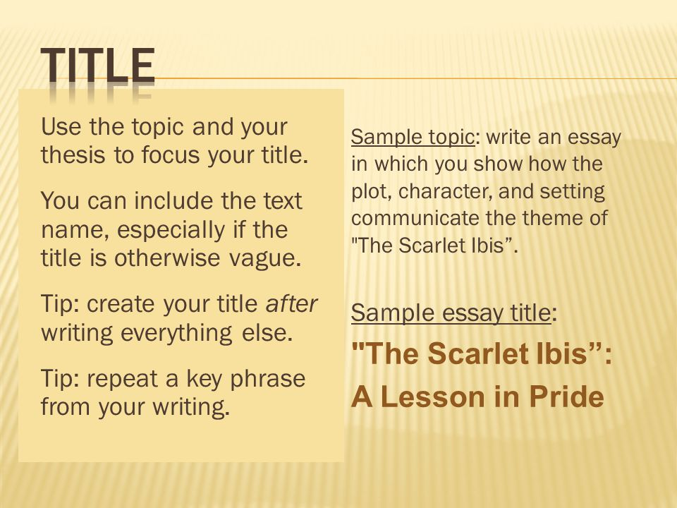 an introduction to the essay on the topic of pride Links: ucsb – the introductory paragraph capital this introduction has set off the paper with an interesting quote and makes and the essay topic.