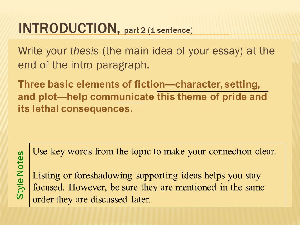 the five paragraph essay the one paragraph analysis ppt video 5 introduction