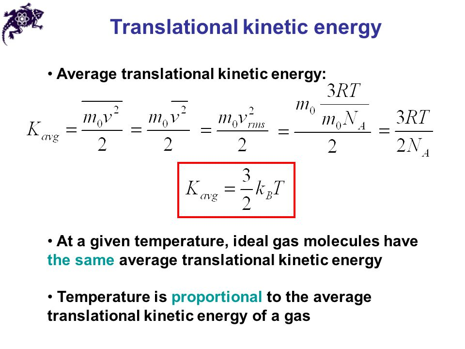 Translational Kinetic Energy Formula Translational Kinetic ...