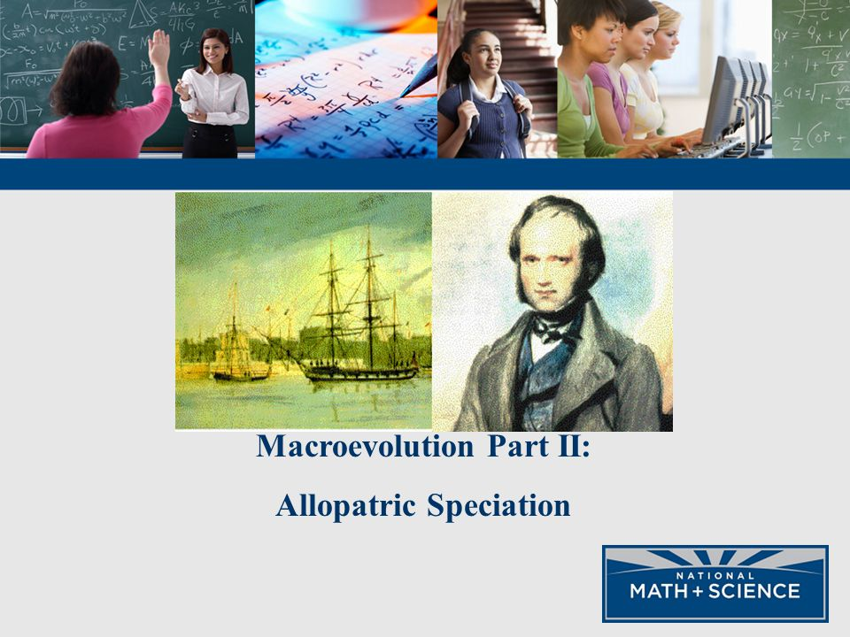 macro evolution allopatric speciation Micro and macro evolution : g radualism : throughout most of the 20th century the evolution of species by successive speciation occurs within a single evolutionary line without the branching of adaptive radiation this.