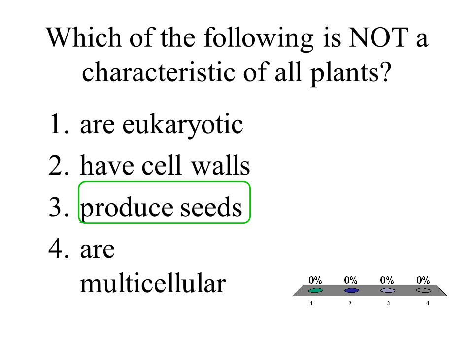 Which of the following is NOT a characteristic of all plants