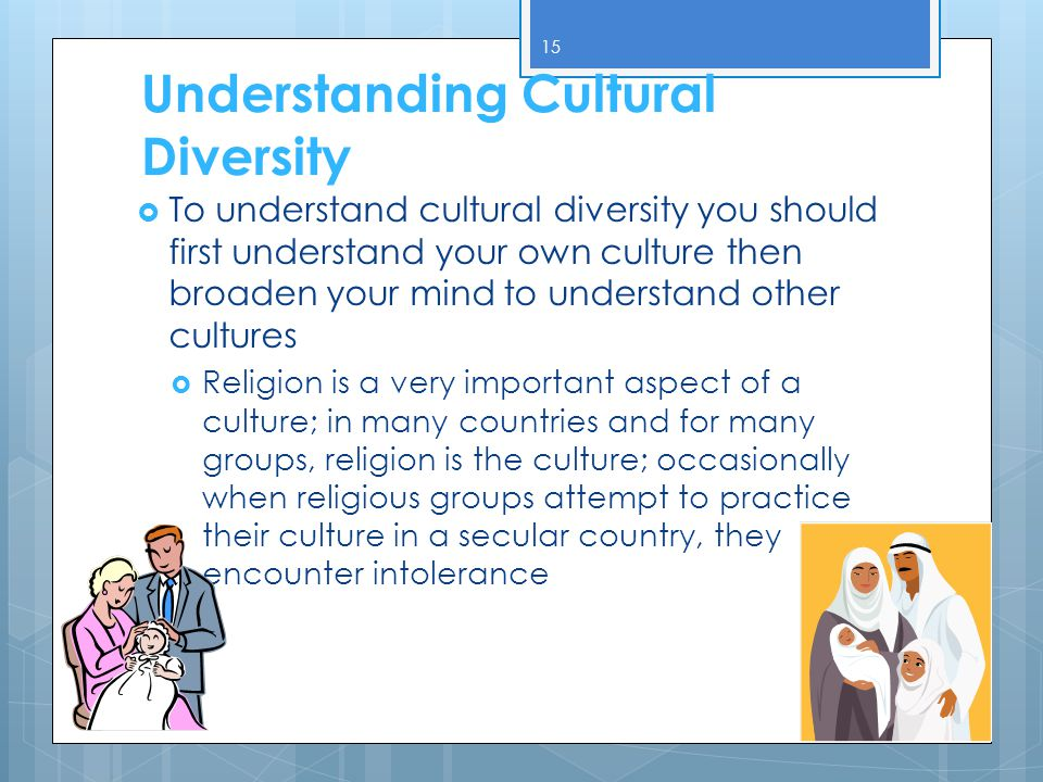 culture and diversity understanding islam essay Cultural diversity essay running head: accepting cultural muslims accepting cultural muslims laura herrick baker college - online 7/19/2014 accepting cultural differences in muslims abstract a basic knowledge of islam is becoming essential for americans today.