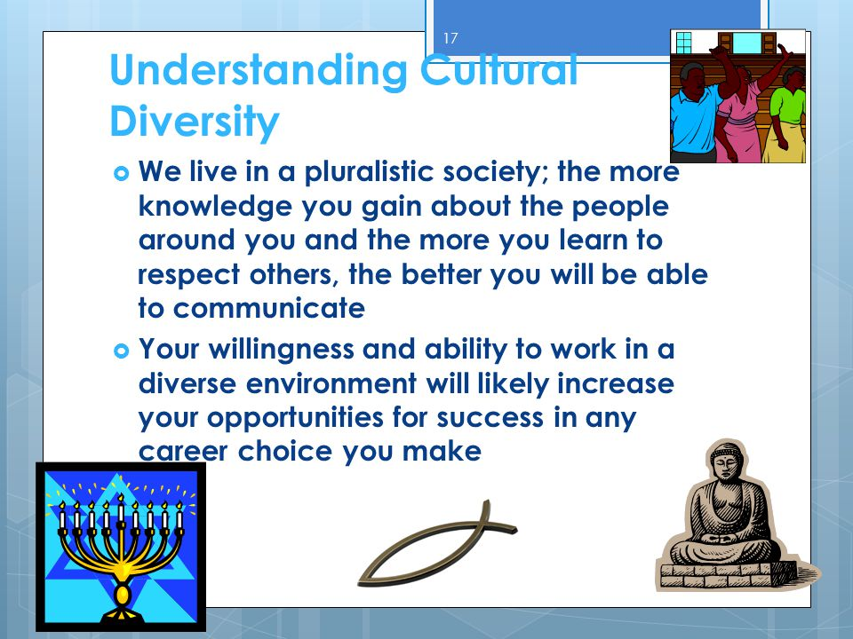understanding cultural differences in the workplace Learn about cultural diversity in the workplace, why it matters, and how,  that  includes understanding the cultural differences inherent in the.