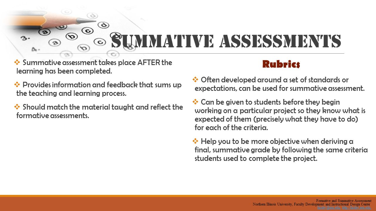 summative assessment design and results Formative & summative assessments - shannon spaulding rdg528 by shannon spaulding | this newsletter was created with smore, an online tool for creating beautiful newsletters for for educators, nonprofits, businesses and more.