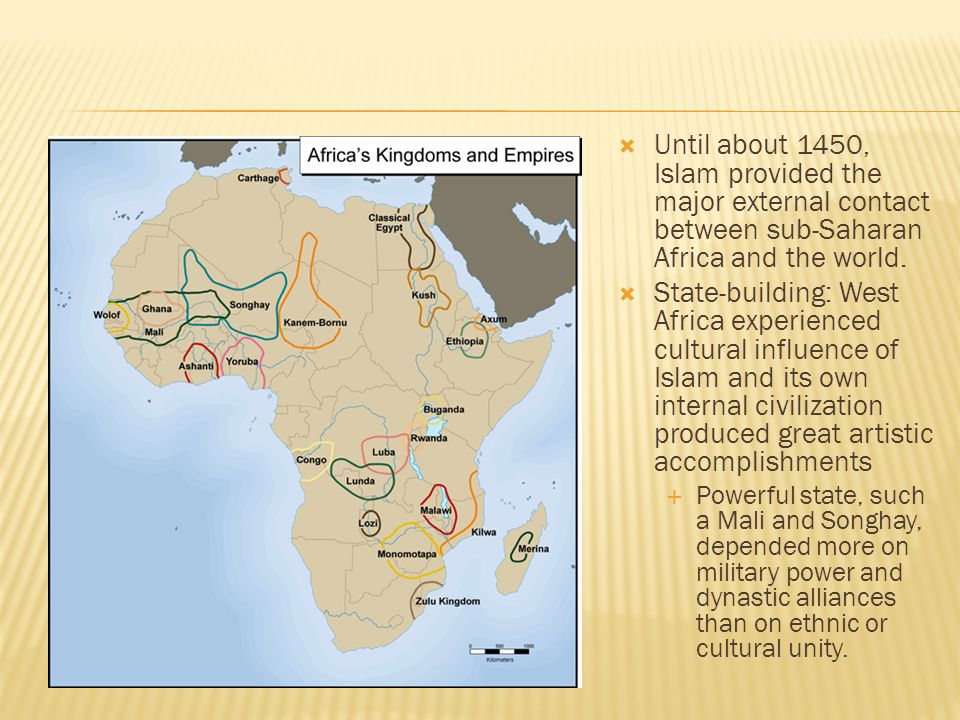 chapter 8 africa civilizations and the Early civilizations in africa africa's size 5 0 0 0 m i l e s 4 6 0 0 m i l e s second largest continent 10% of the world's population the continent of.