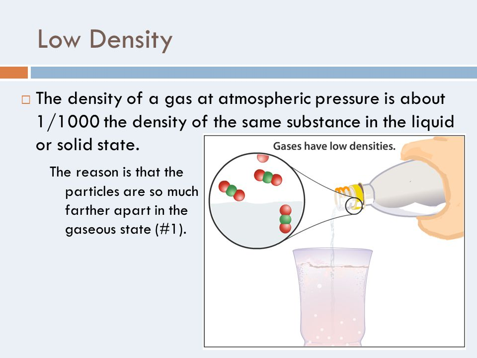 how to change the density of a liquid