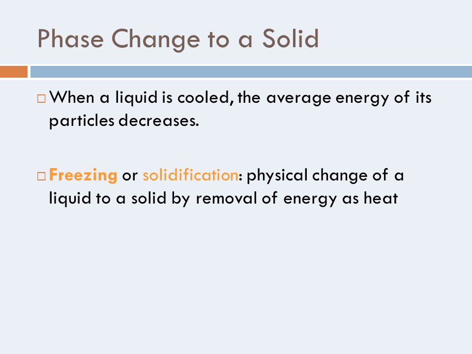 how to change liquid to solid