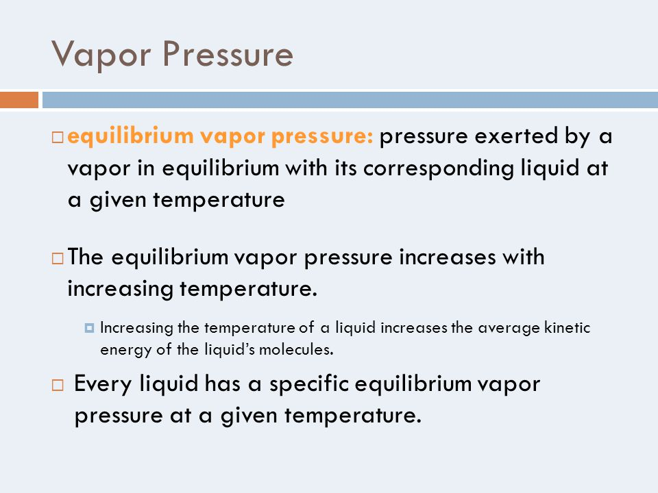 how to find vapor pressure when given temperature