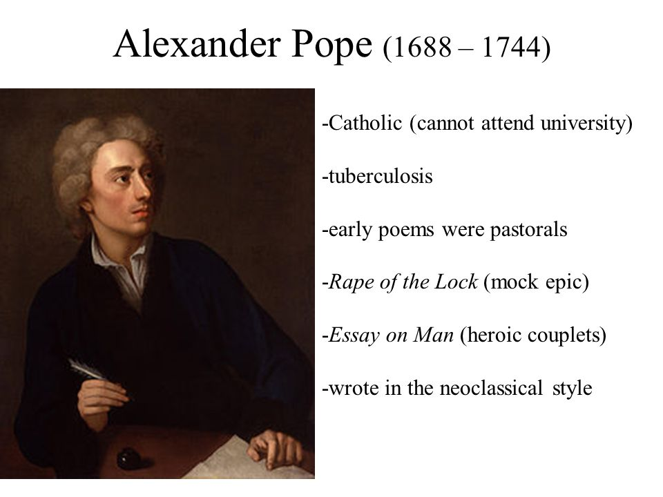 alexander pope essay of man summary Alexander pope essay on man summary - change the way you do your task with our professional service all kinds of writing services & custom papers top-ranked and cheap paper to make easier your education.