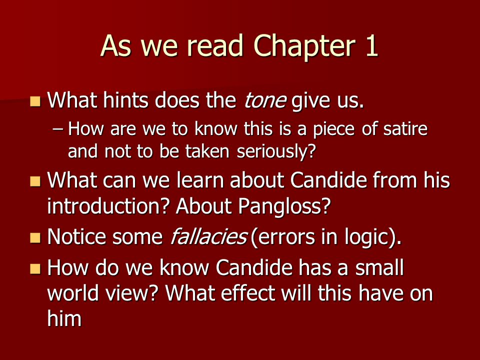 candide and pangloss relationship