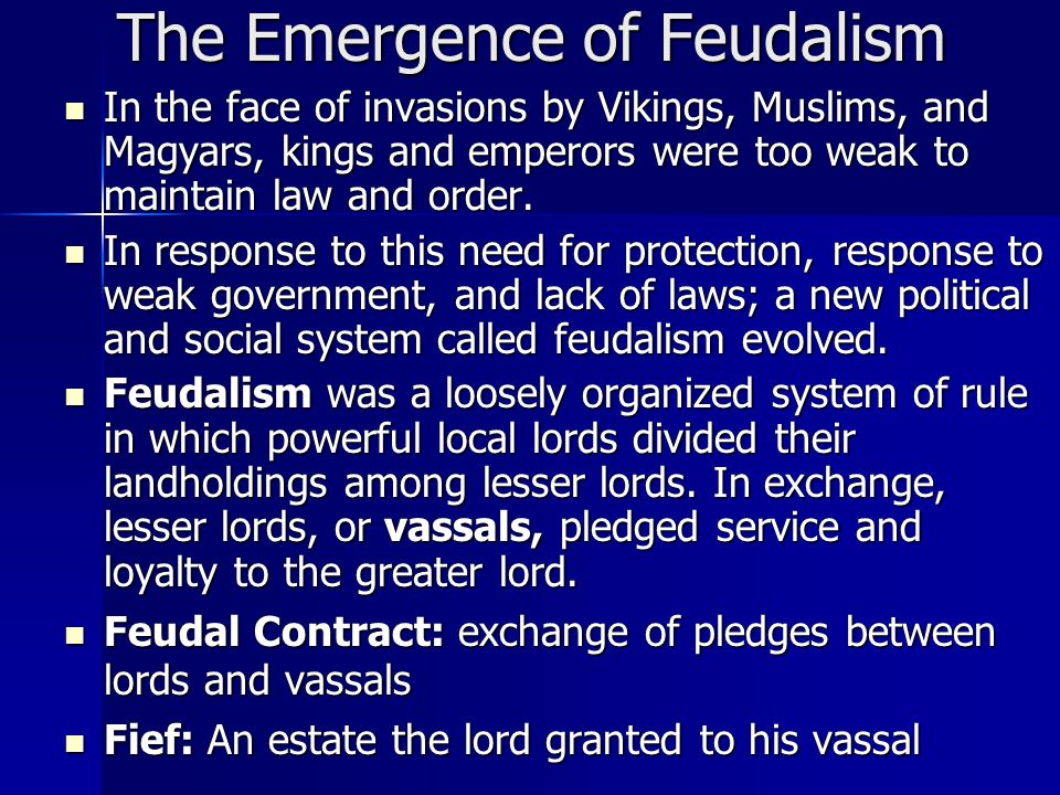 feudalism and new social order Political structure during the middle ages  the middle ages and feudalism in  lesson 1, use  about a new political, economic, and social system known as.