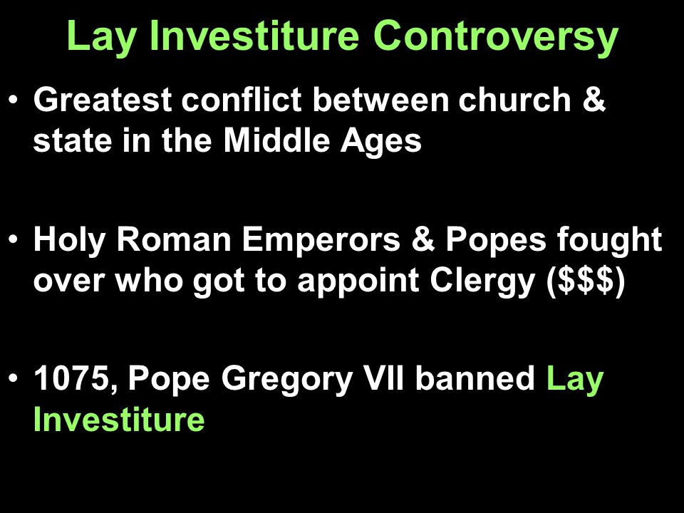 Lay Investiture Controversy