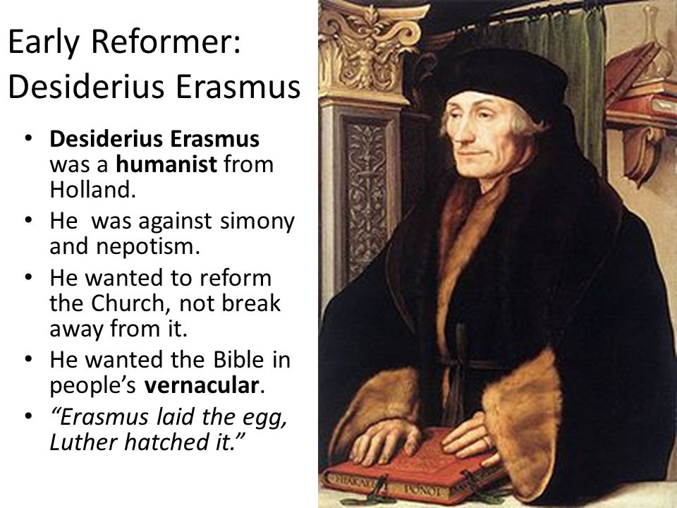 did erasmus lay the egg luther hatched Net/46449/erasmus-greek-nt-changed-history-500-years-ago erasmus' greek nt changed history 500 years  erasmus laid the egg that luther hatched.