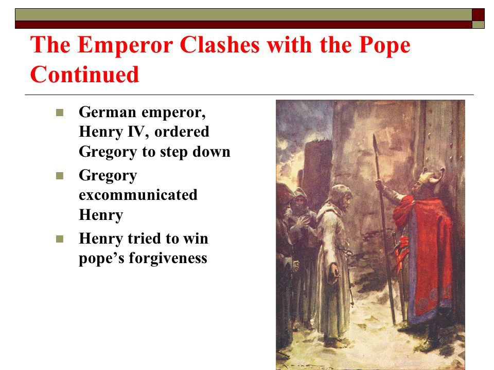 The Emperor Clashes with the Pope Continued