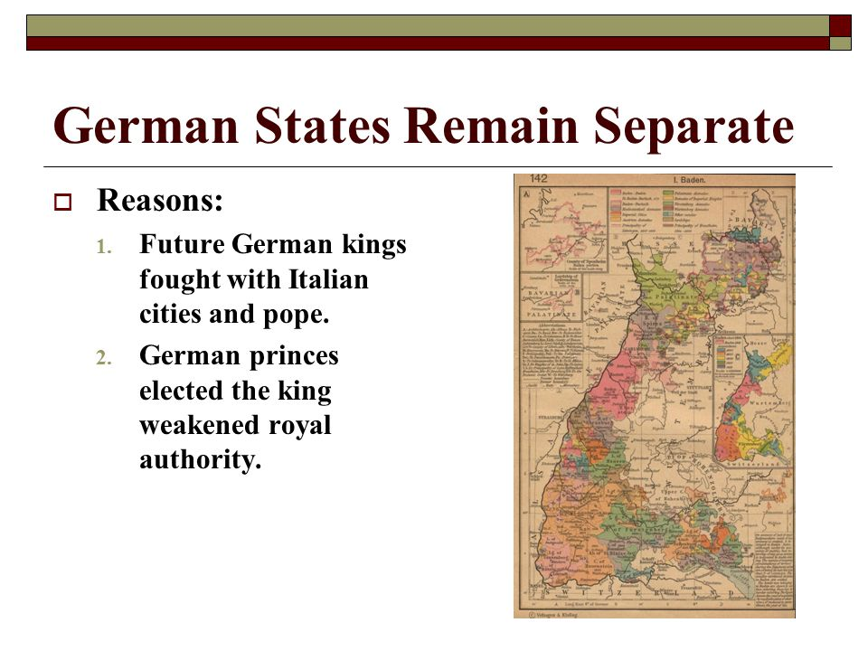 German States Remain Separate