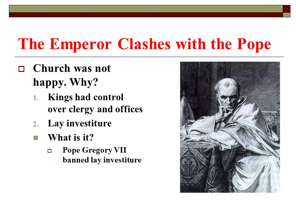 The Emperor Clashes with the Pope
