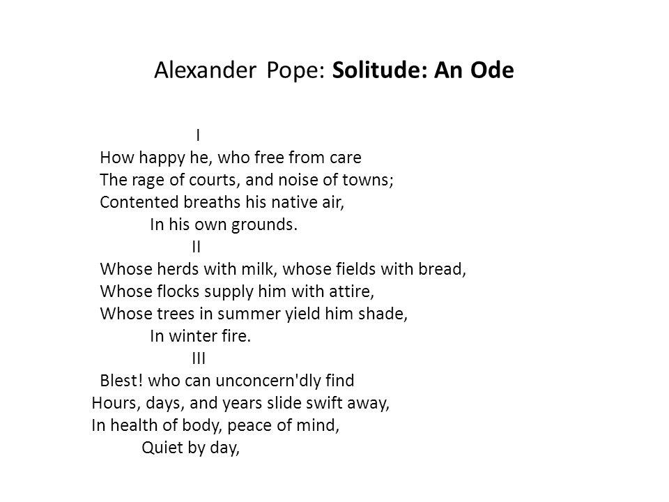 Lyric lyrics to ode to billy joe : Alexander Pope: Solitude: An Ode - ppt download