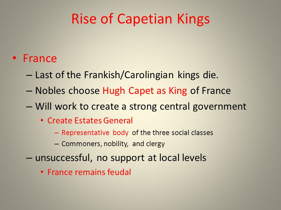 Rise of Capetian Kings France
