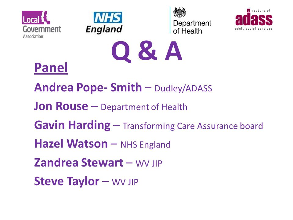 Q & A Panel Andrea Pope- Smith – Dudley/ADASS