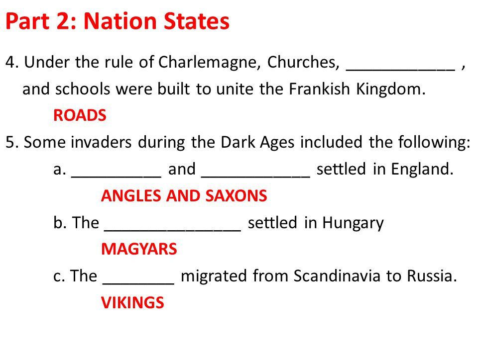 Part 2: Nation States