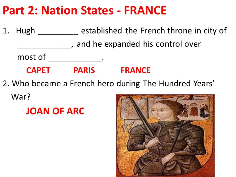 Part 2: Nation States - FRANCE