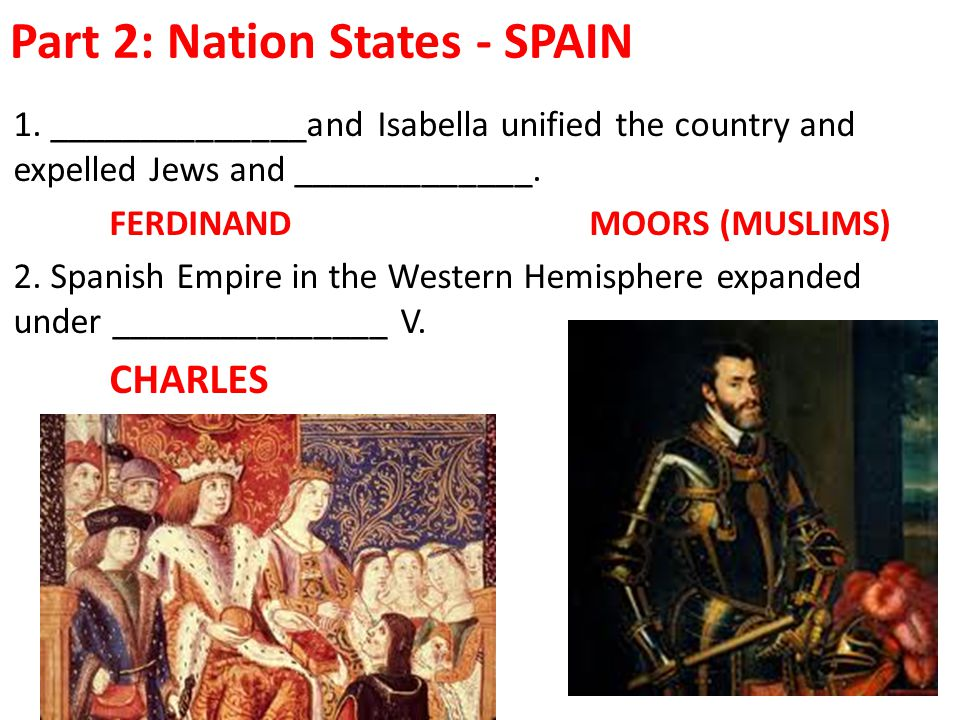 Part 2: Nation States - SPAIN