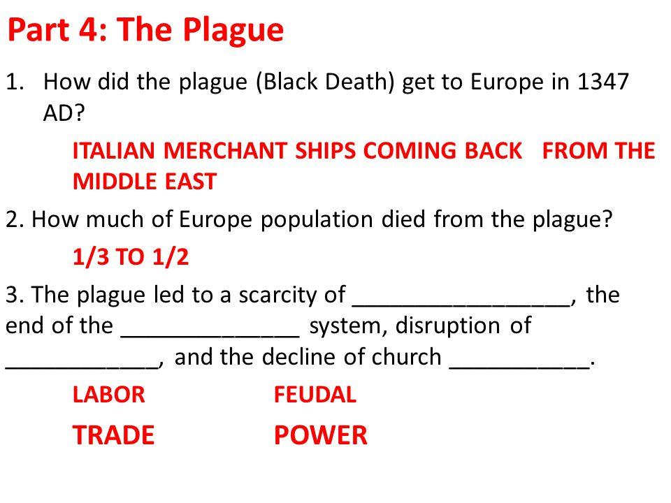 Part 4: The Plague TRADE POWER