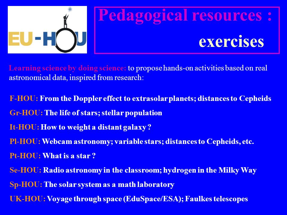 Pedagogical resources : exercises