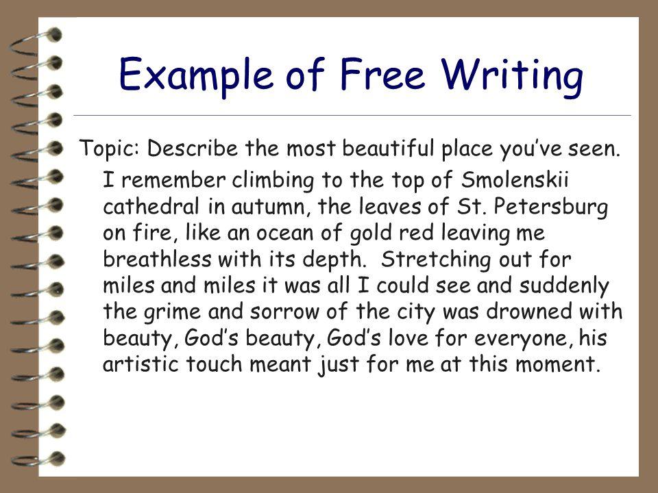 free writing sample