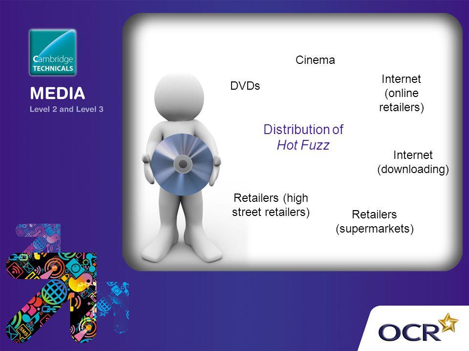 Distribution of Hot Fuzz Cinema Internet (online retailers) DVDs