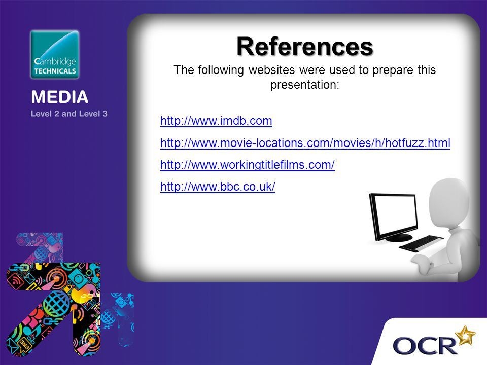 The following websites were used to prepare this presentation: