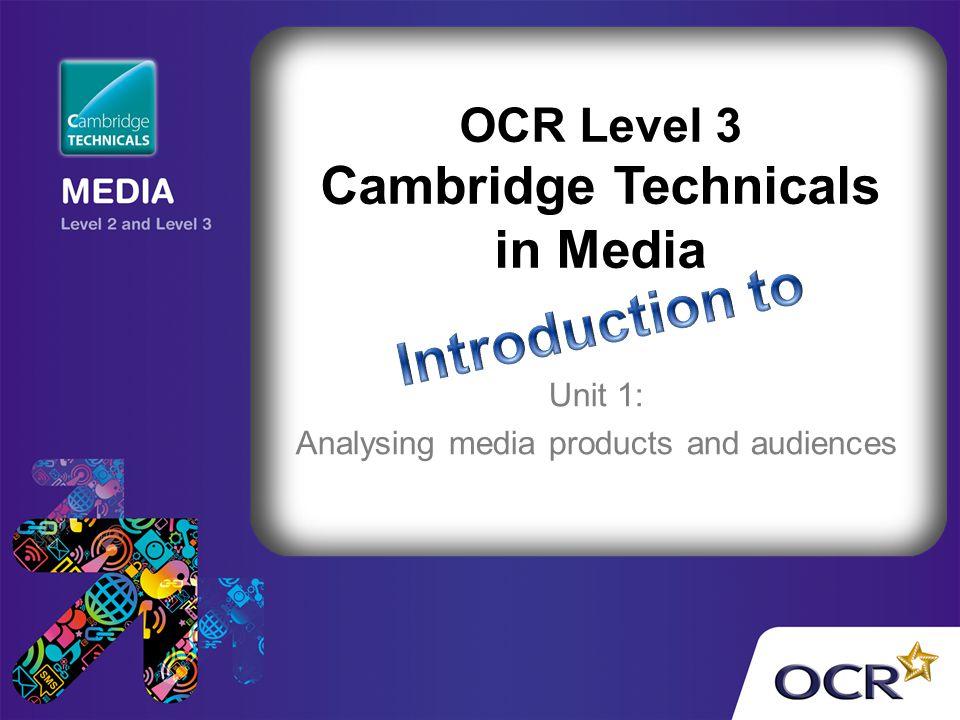 OCR Level 3 Cambridge Technicals in Media