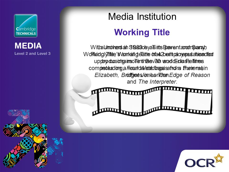 Media Institution Working Title
