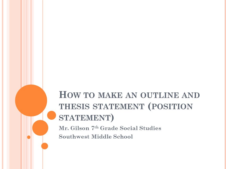 powerpoint how to write a thesis statement