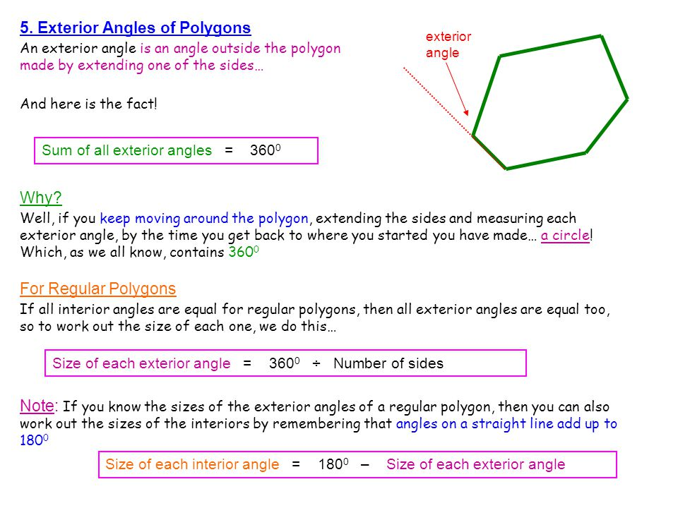 Mr barton s maths notes ppt video online download What do exterior angles of a triangle add up to