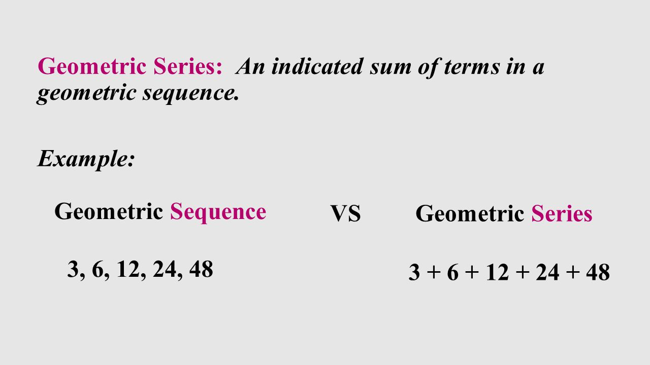 Geometric Sequences and Series ppt download – Geometric Sequence Example