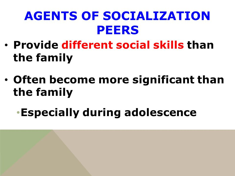 What are Agents of Socialization? Essay Sample