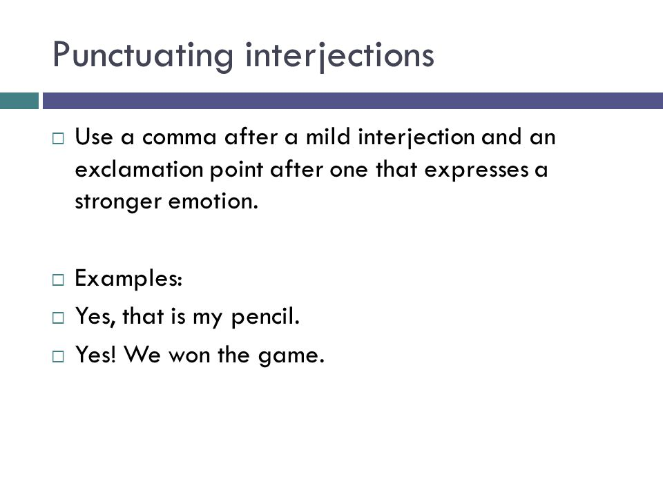 Interjections And Capitalization Ppt Video Online Download