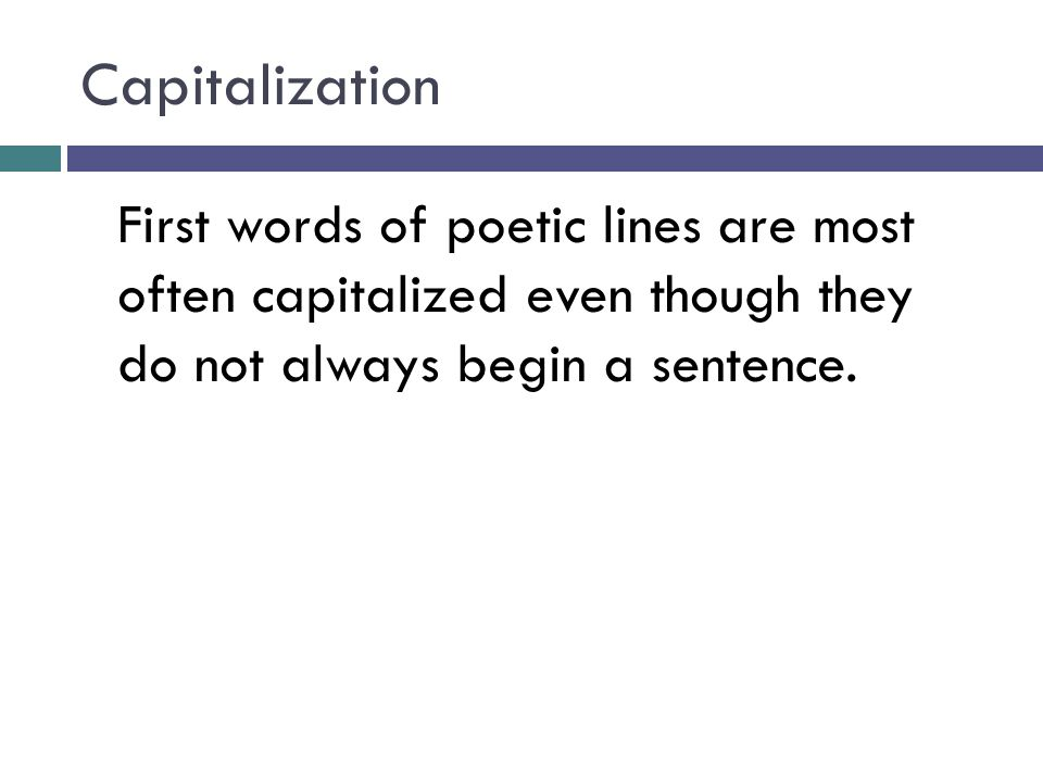 interjections and capitalization