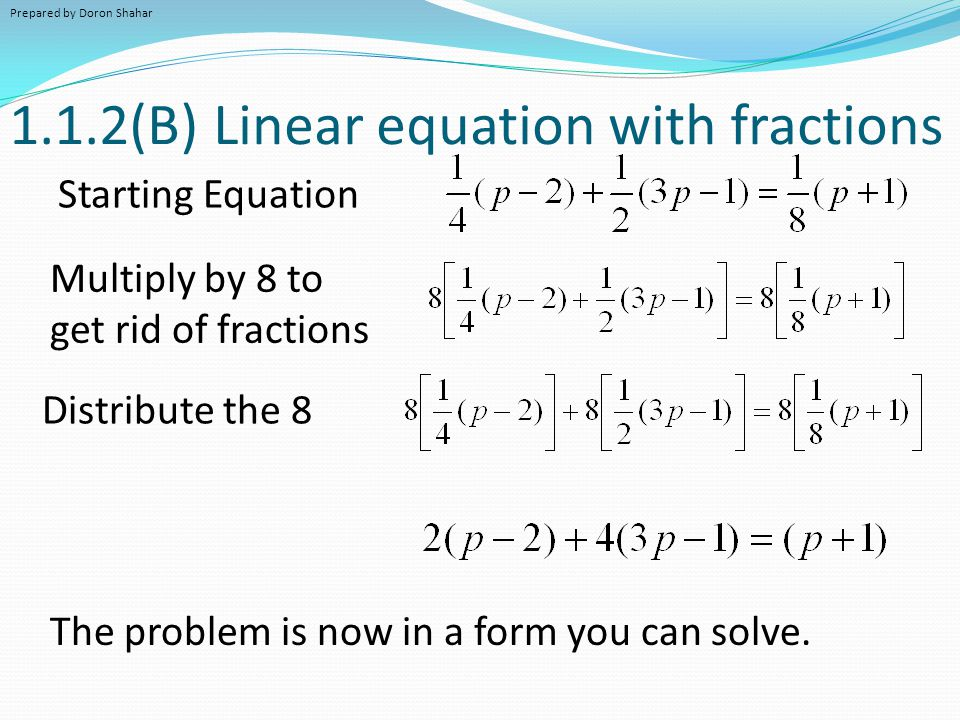 Solving Problems With Fractions