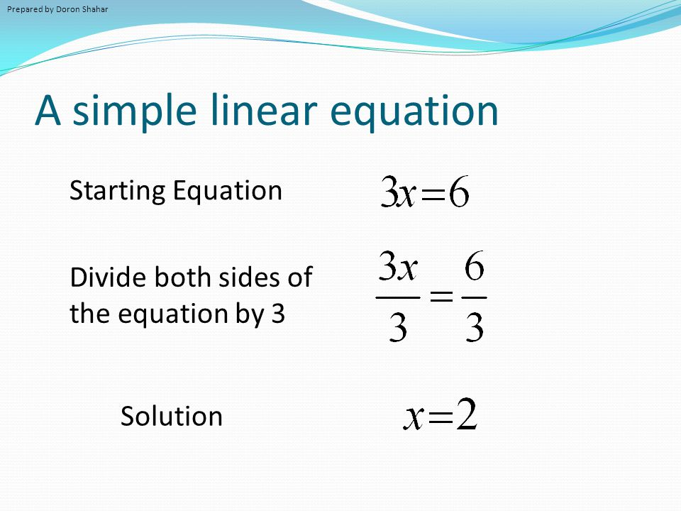 Easy Equation Prepared by Doron Shah...