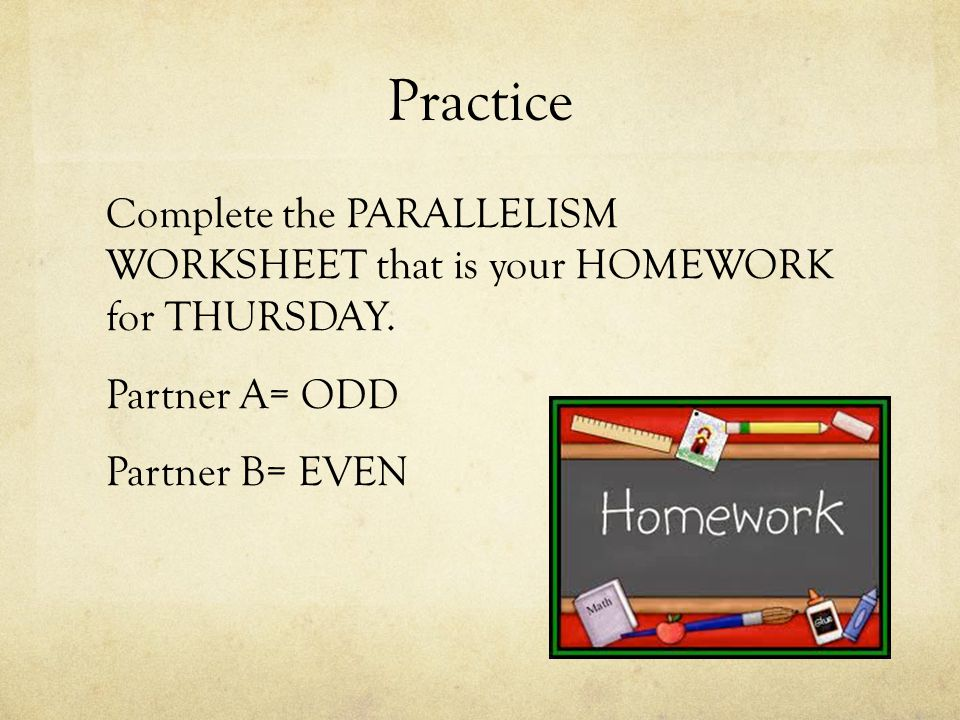 The AP Day ppt download – Parallelism Worksheet