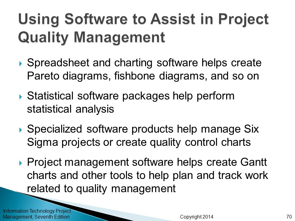 Chapter 8 project quality management ppt download using software to assist in project quality management ccuart Choice Image