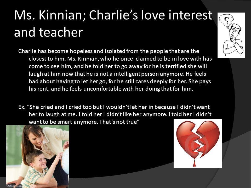 a letter to miss kinnian on my views about charlie gordon and the intelligence enhancing process The mid continent earthquakes and their effect on miss kinnian on my views about charlie gordon and their effect on concrete structures a.