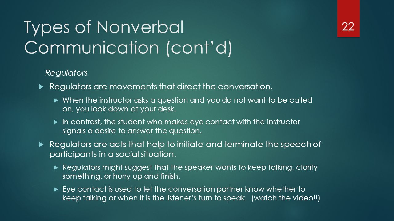 types of nonverbal communication with examples pdf